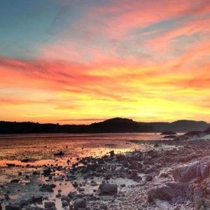 Elm Cottage Roughfirth Beach Sunset